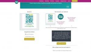 Get your QR Code and Link to your allergen Menu