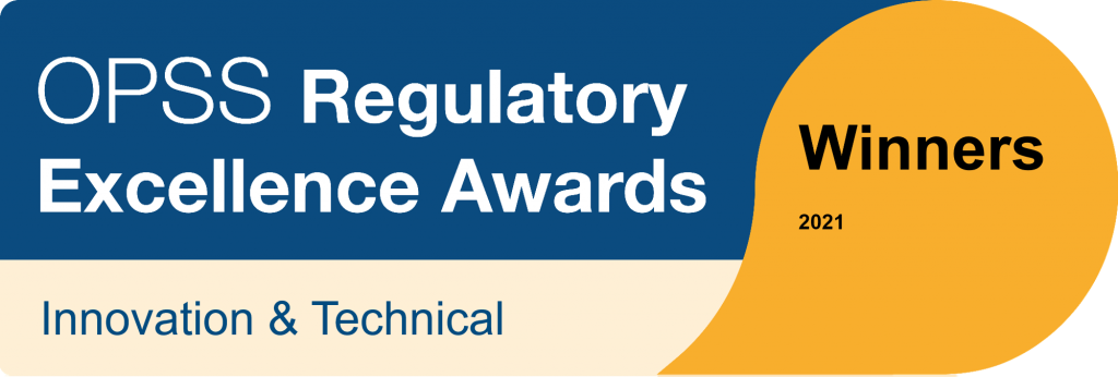 Office for Product Safety and Standards - Regulatory Excellence Awards - Innovation and Technical winner 2021
