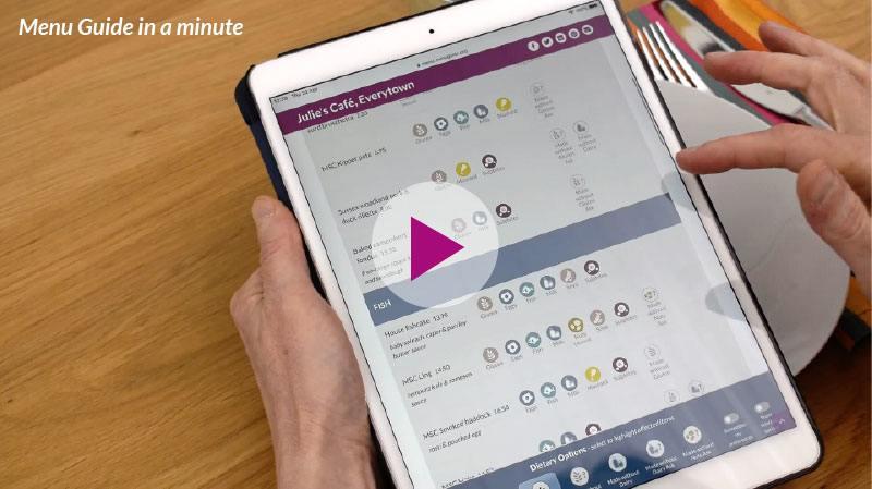 Menu Guide in a Minute Video